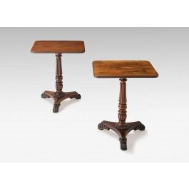 Coppia tavolini tripod