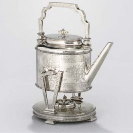 Silverplate tea kettle