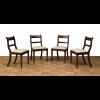 Set di quattro sedie in mogano