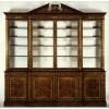 Breakfront Bookcase in radica di noce